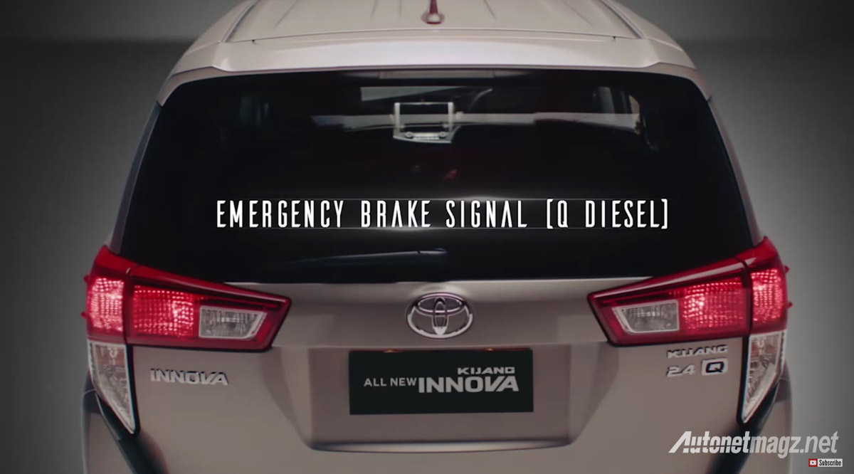 emergency brake signal all new Toyota Kijang Innova
