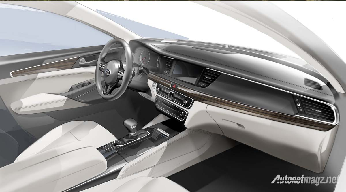 kia cadenza interior sketch