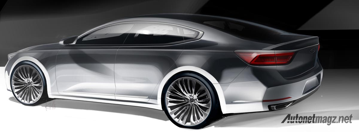 kia cadenza sketch rear