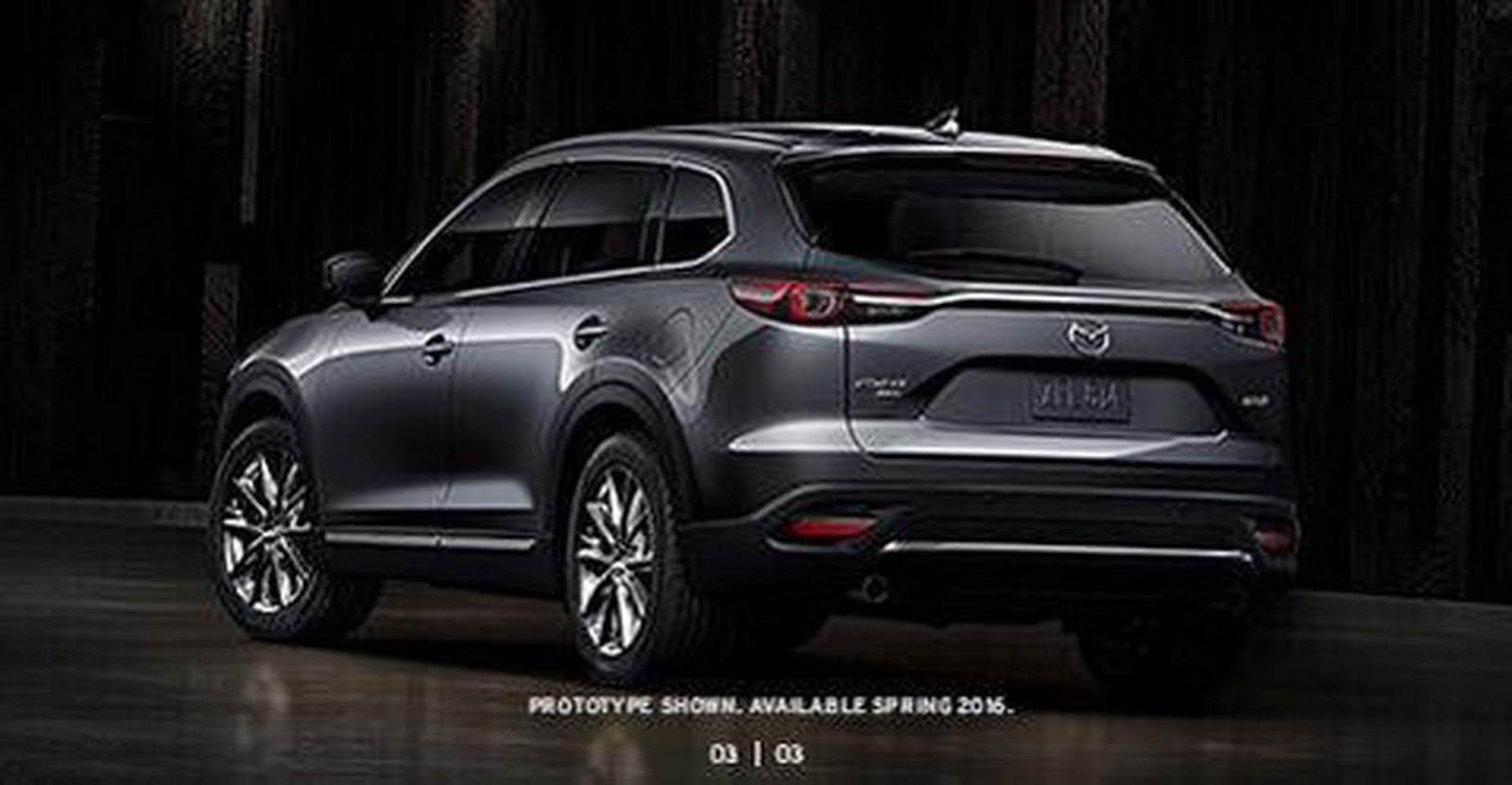 mazda cx9 2016 rear