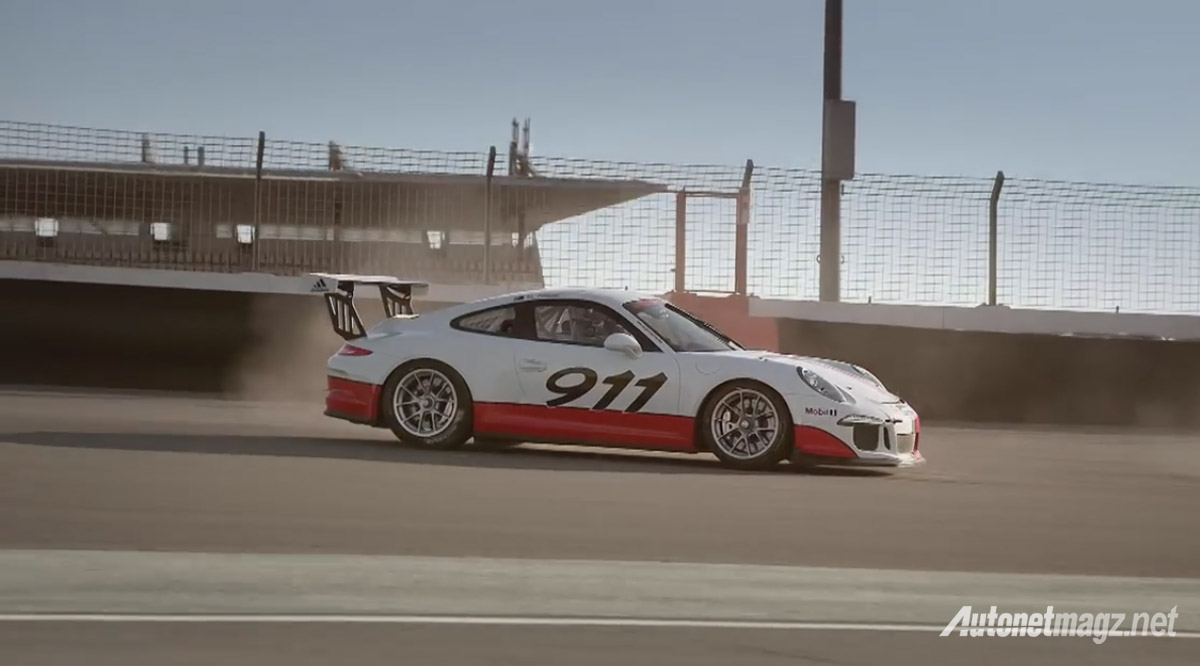 porsche 911 gt3 cup spin out