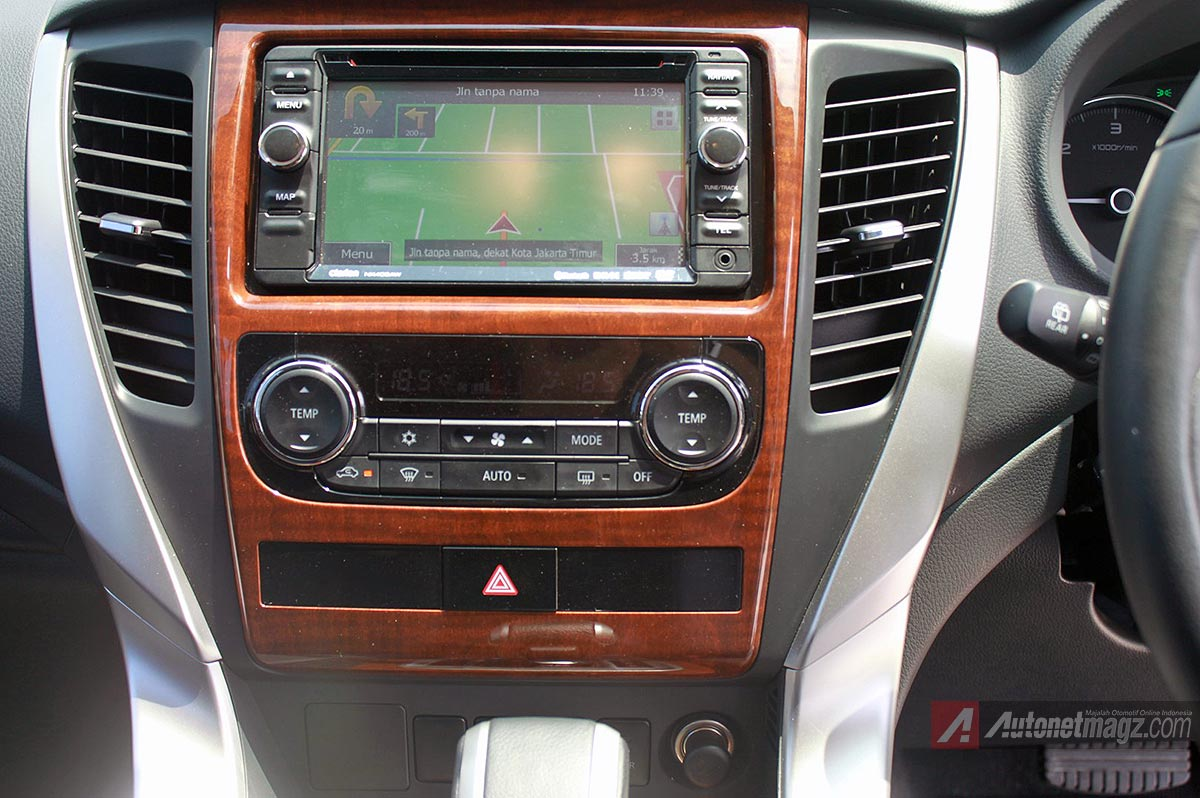 AC head unit Pajero Sport baru 2016