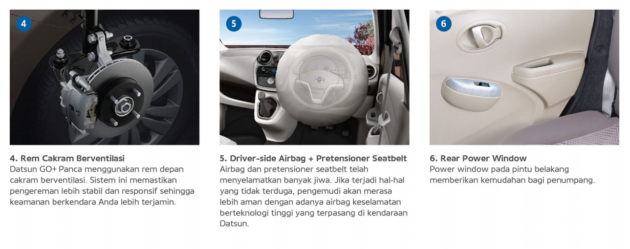 Datsun GO Facelift Power Window Belakang