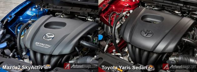 Engine-Toyota-Yaris-Sedan-vs-Mazda-2-SkyActiv