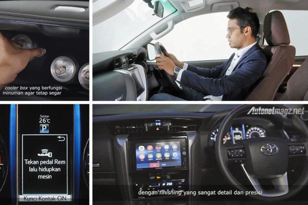Fitur dan interior kabin Toyota All New Fortuner baru 2016 versi Indonesia