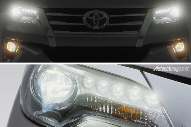 Lampu LED Projector headlamp Toyota Fortuner baru 2016