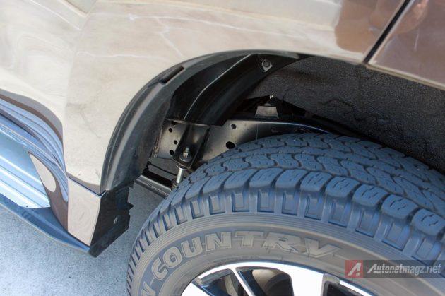 Suspensi belakang Mitsubishi All New Pajero Sport baru 2016