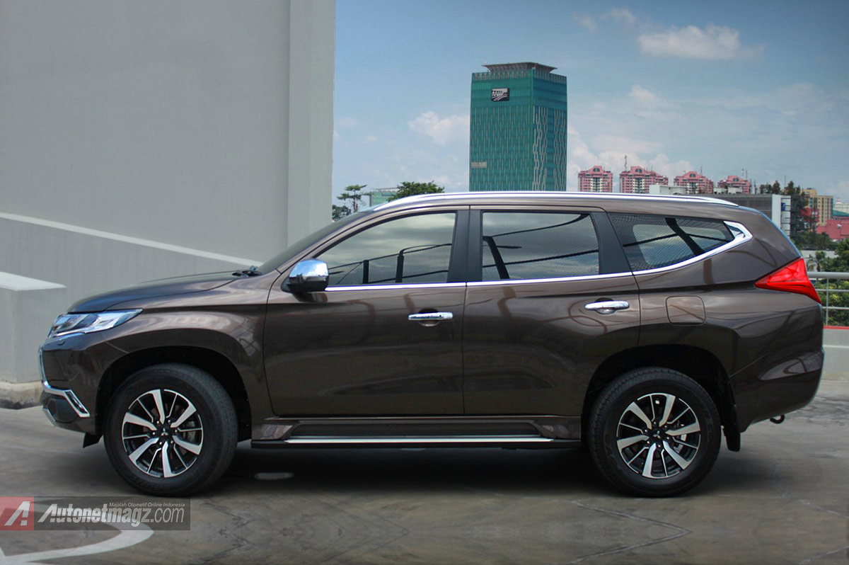 Berita, Tampak samping Pajero Sport baru 2016: First Impression Review Mitsubishi All New Pajero Sport Indonesia, Part 1 : Eksterior