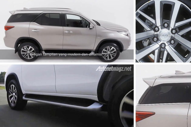Toyota Fortuner baru 2016 All New Indonesia tampak samping side view
