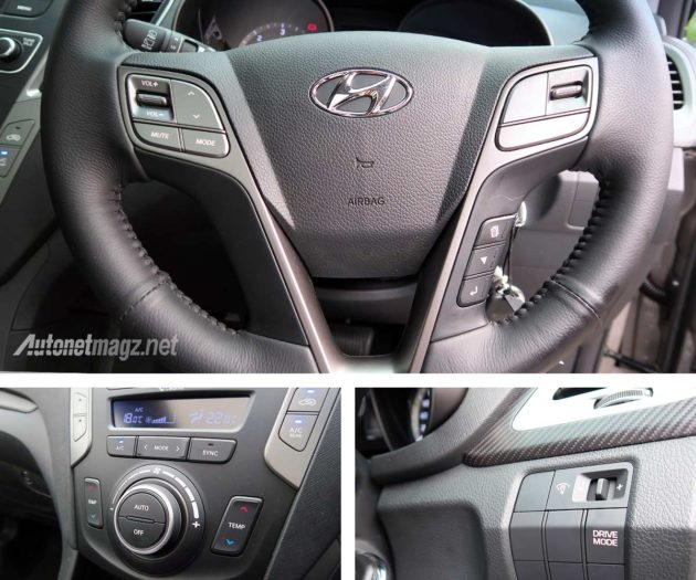 Drive Mode dan AC Digital New Hyundai Santa Fe 2016