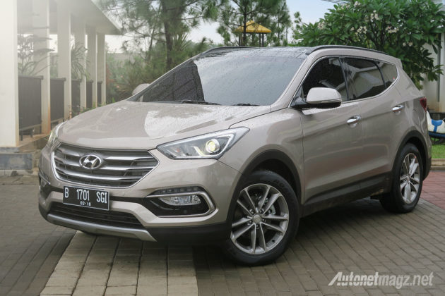 Wallpaper Hyundai Santa Fe minor change 2016 facelift
