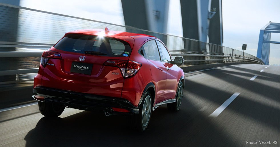 honda hrv rs back