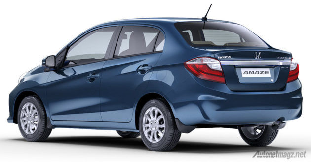 Brio Amaze new 2016 rear view Honda