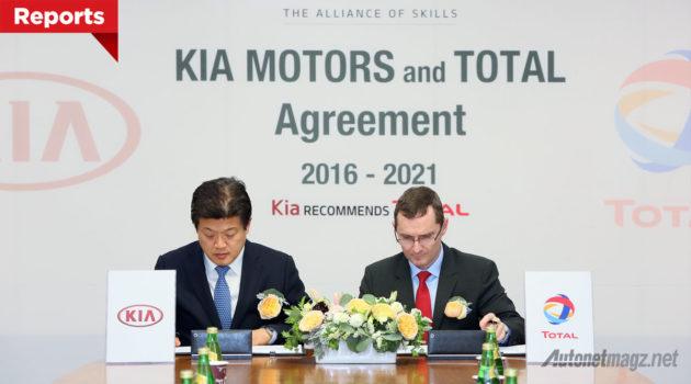 KIA motors dan Total Oil perpanjang kerjasama hingga tahun 2021