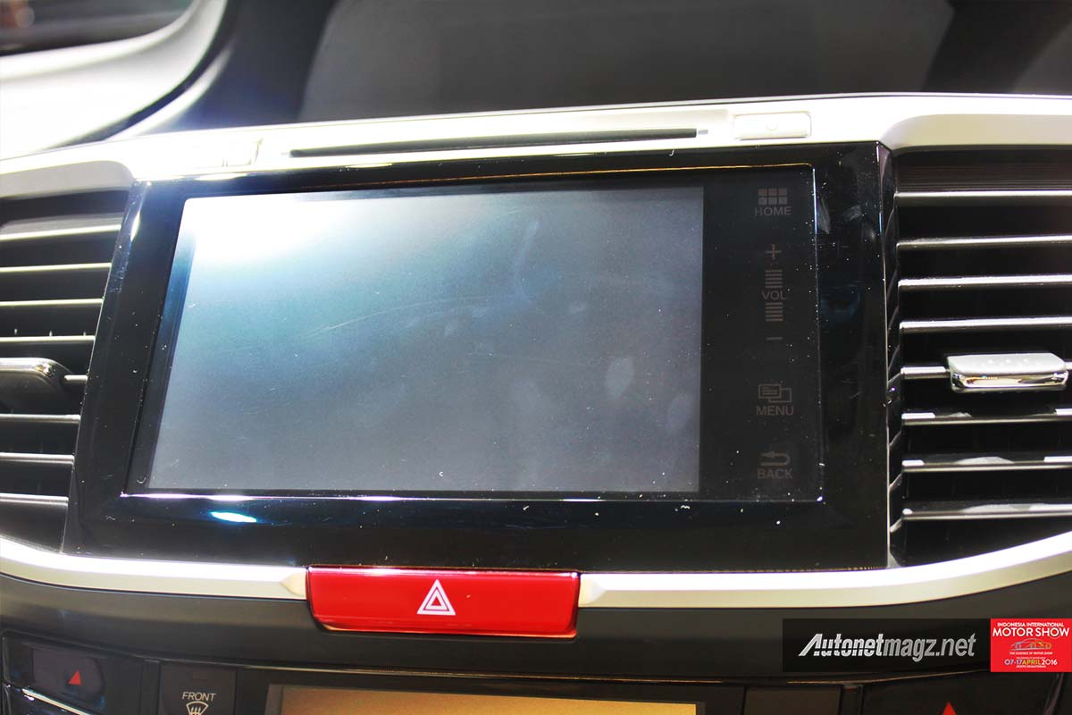 honda accord facelift indonesia iims 2016 head unit