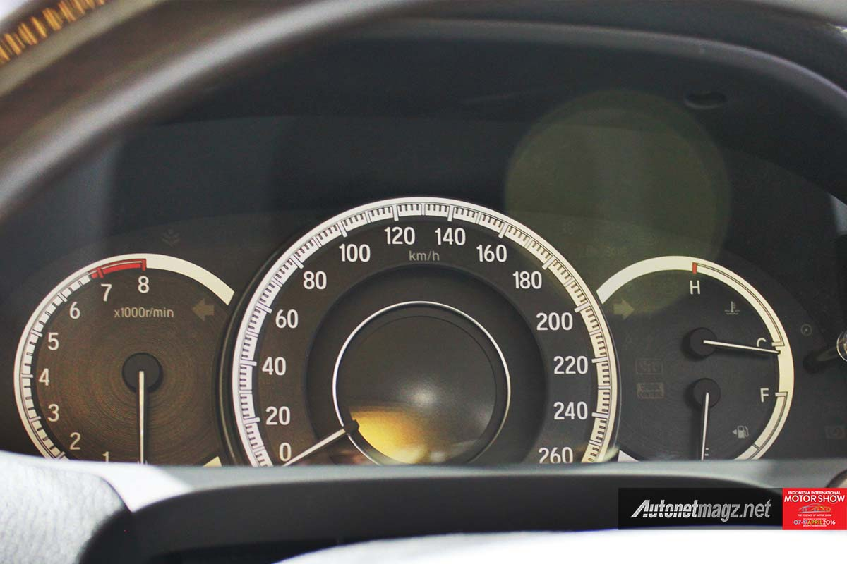 honda accord facelift indonesia iims 2016 instrument panel