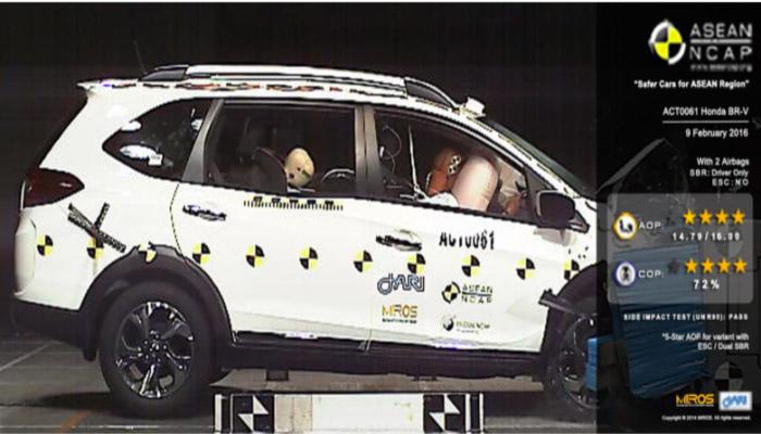 honda br-v crash test