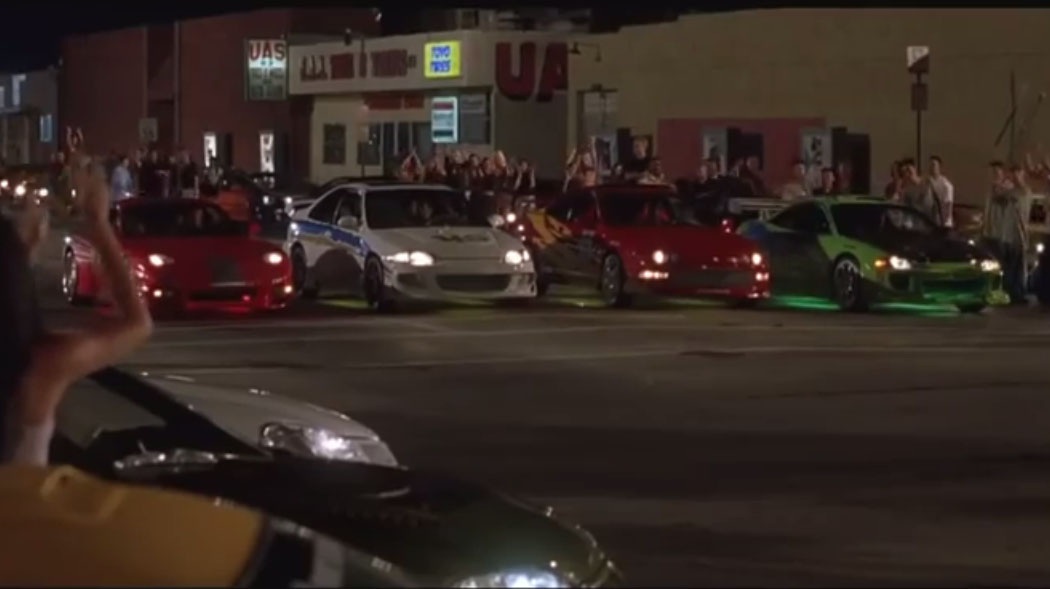 the fast and the furious first race