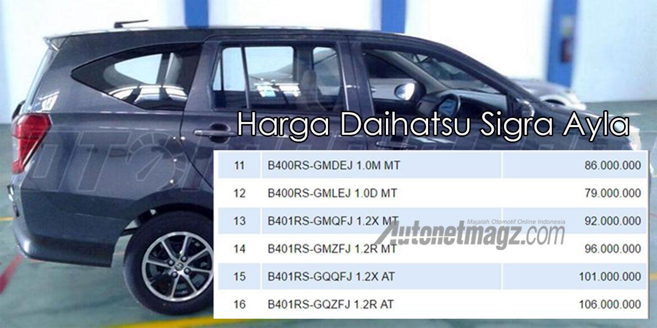 NJKB Harga Daihatsu Sigra Beredar Bisa Dibawah 100 Jutaan