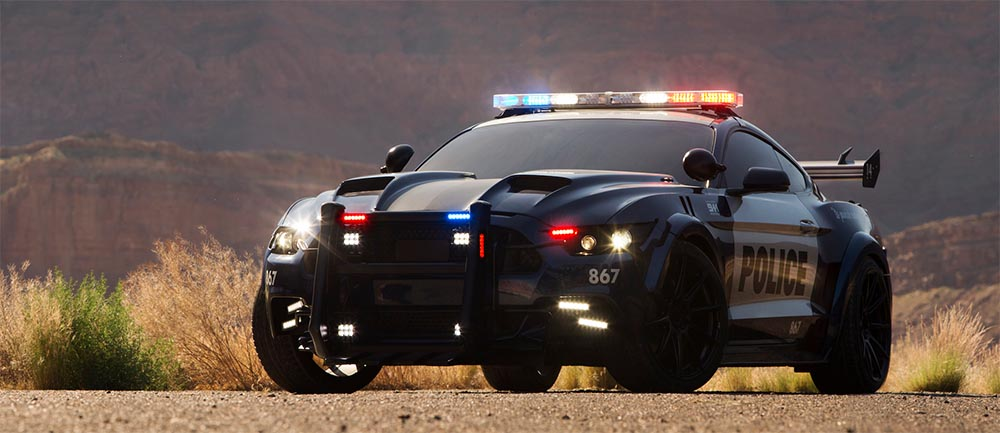 ford shelby mustang police cruiser barricade