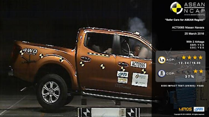 nissan navara asean ncap crash test