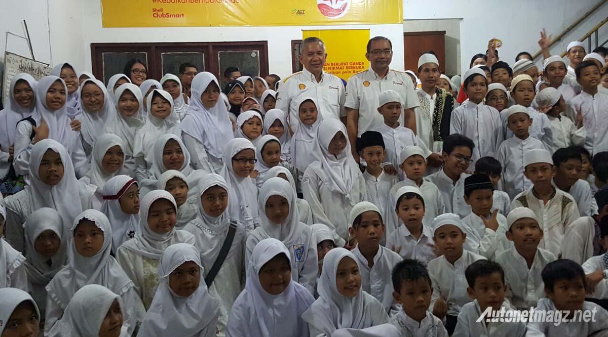 shell indonesia buka bersama anak panti asuhan