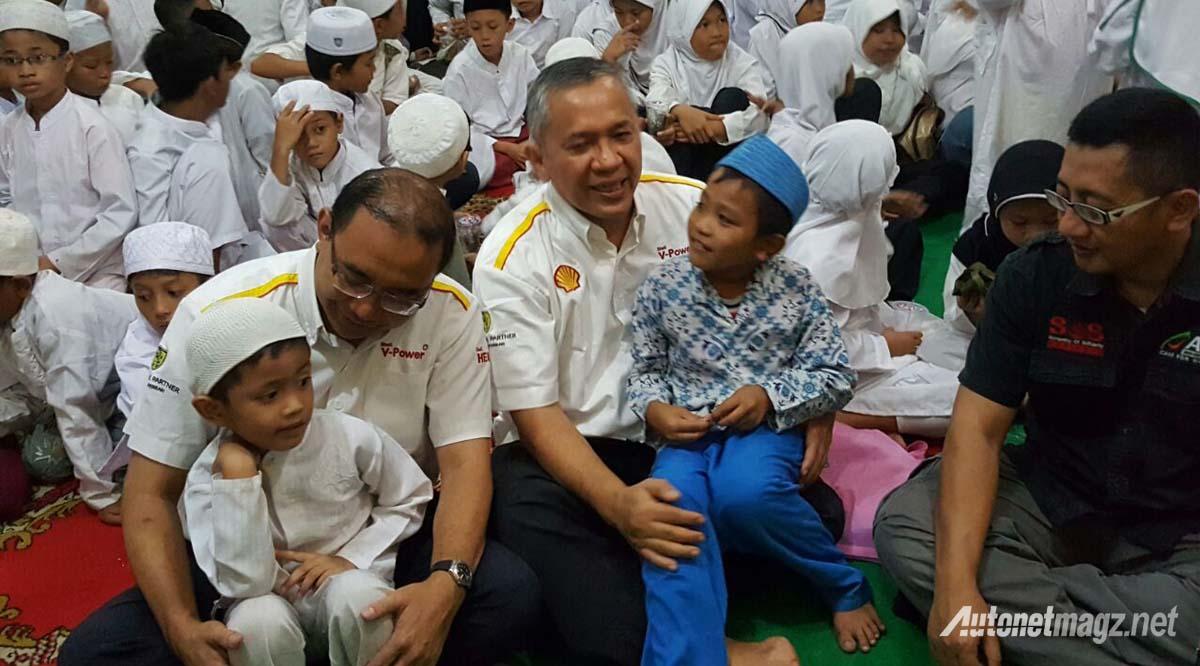 shell indonesia buka puasa bersama anak panti asuhan