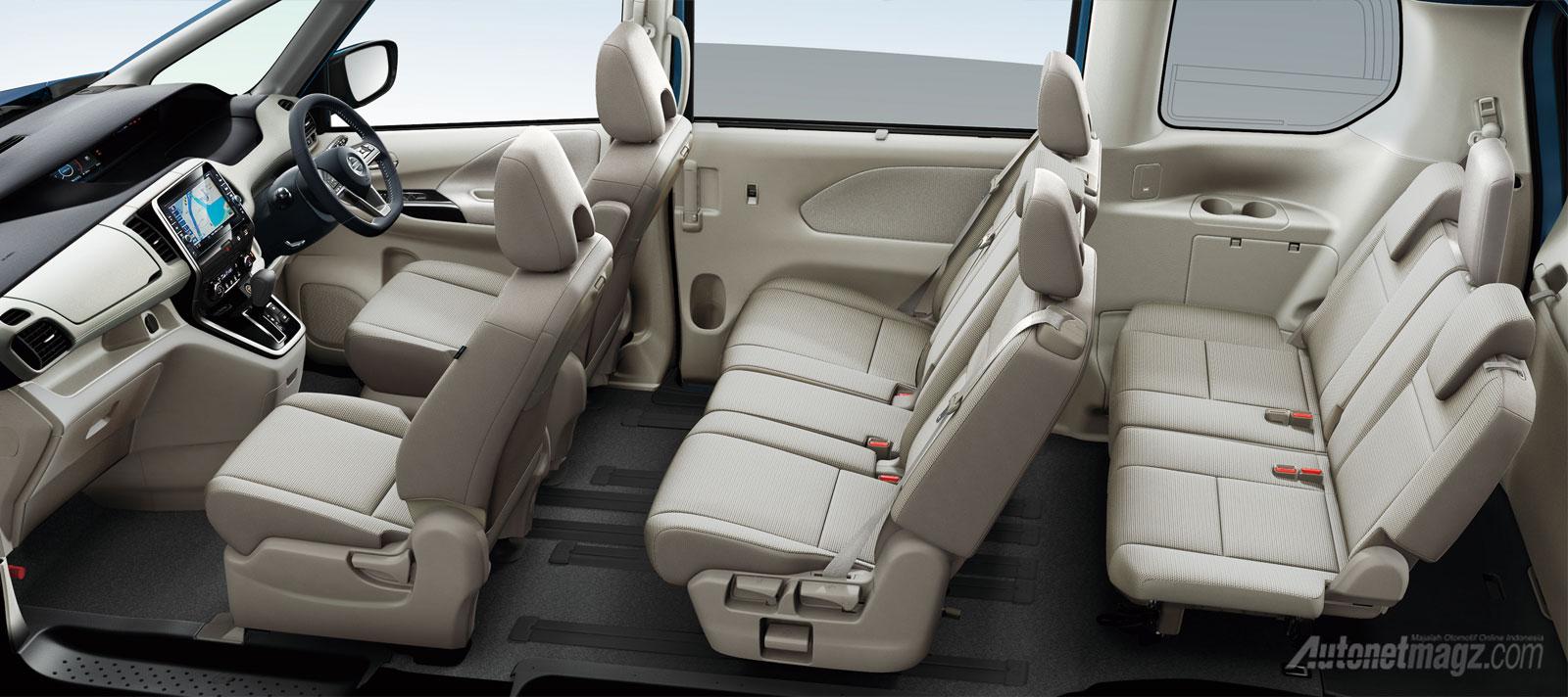 Interior New Nissan Serena C27 2017 kabin konfigurasi jok