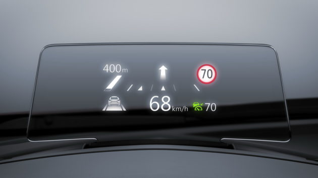 Mazda3 facelift 2017 head up display