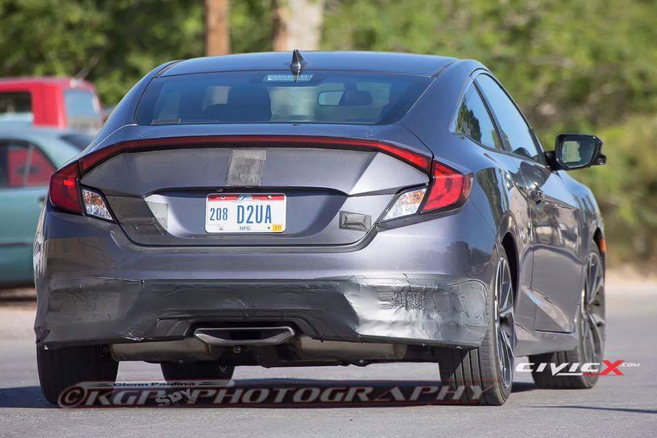 honda civic si 2017 prototype back