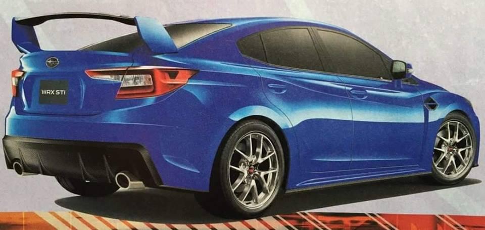 Subaru WRX STI 2018 render rear