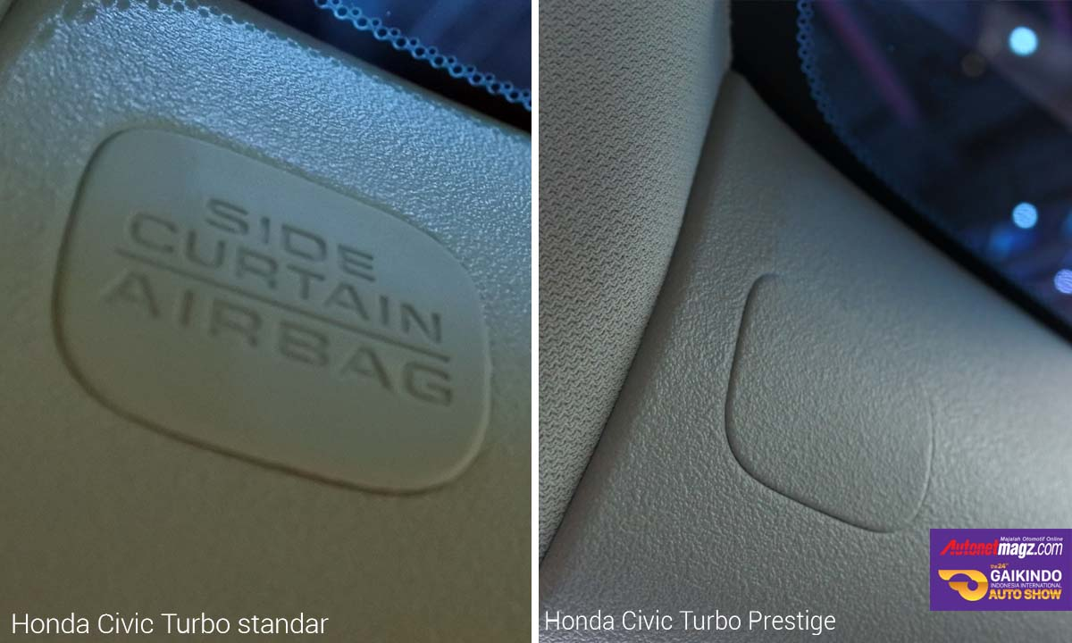 airbag tirai honda civic turbo prestige di GIIAS 2016