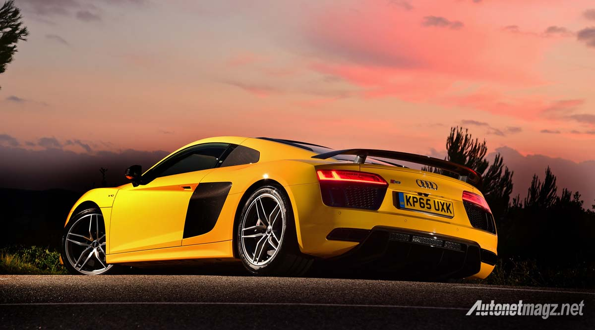 audi r8 v10 plus yellow