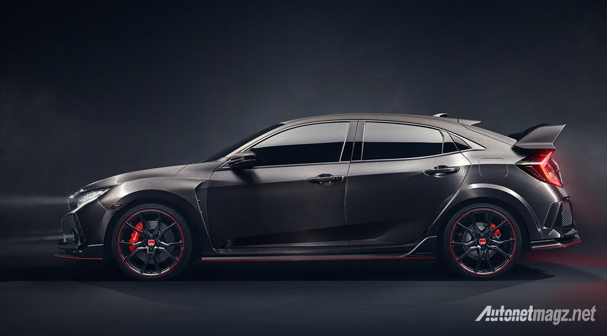 Honda, 2018-honda-civic-type-r-prototype-side: Inilah Tampilan Honda Civic Type R Prototype!