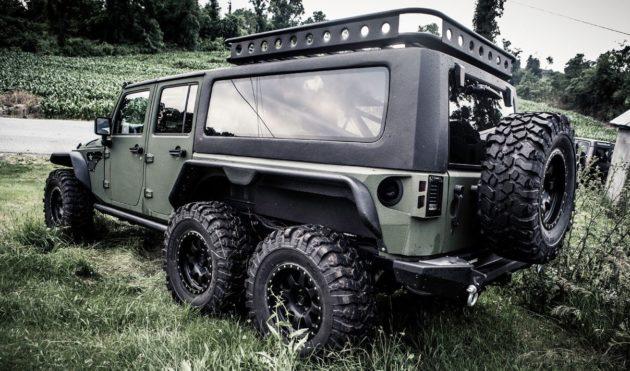 Ini Wujud Jeep Wrangler 6 6 Buatan Rumah Modifikasi China Autonetmagz