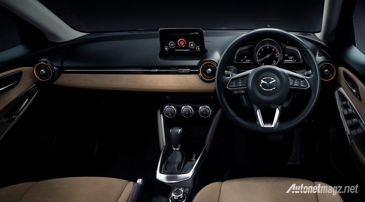 International, mazda-2-facelift-brown-interior: Mazda 2 dan CX-3 Baru Kini Dengan G-Vectoring Control