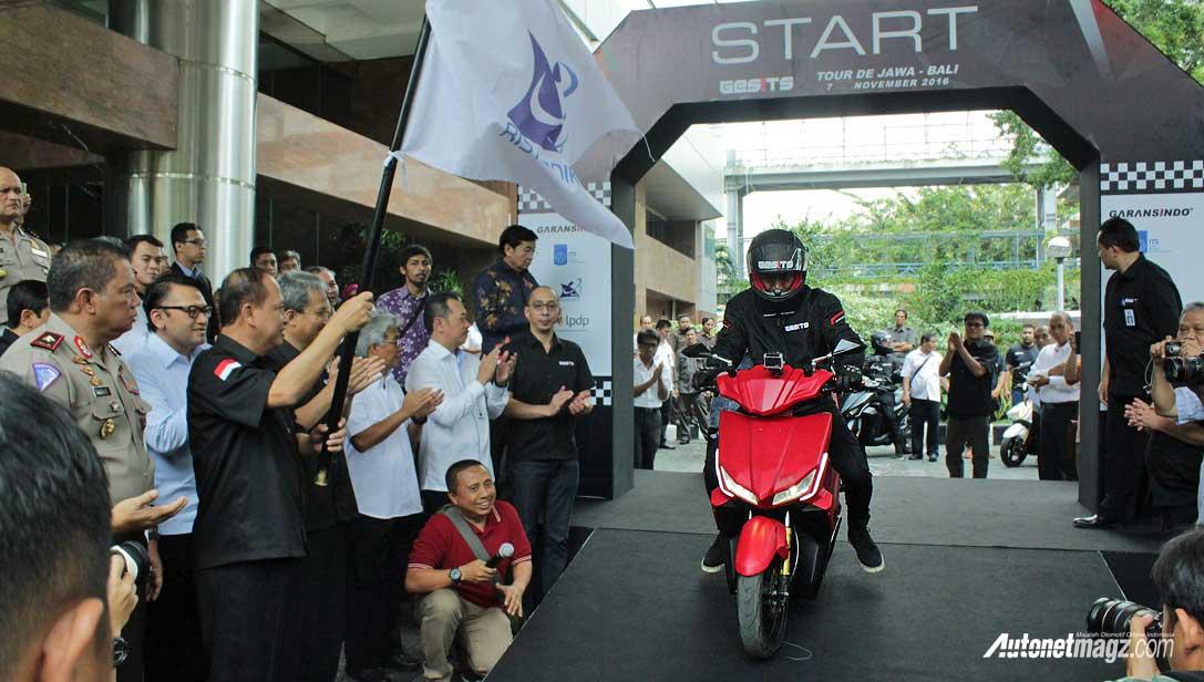 Motor Baru, gesits-tour-de-jawa-bali-skutik-motor-listrik-indonesia: Motor Listrik Indonesia, GESITS Buktikan Kemampuan dengan Tour de Jawa Bali
