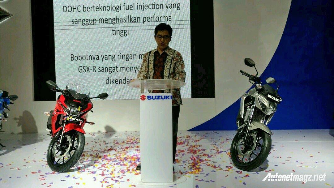 Motor Baru, launching-suzuki-gsx-r-150-and-gsx-s-150-at-imos-2016: IMOS 2016 : Suzuki GSX-R dan GSX-S 150 Indonesia Diperkenalkan!