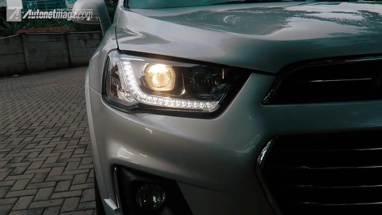 Chevrolet, Headlamp New Chevrolet Captiva dengan LED DRL: Chevrolet Captiva 2016 Review : Good Package With Old Outfit
