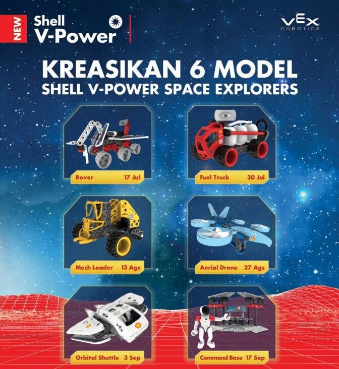 Berita, shell v power space explorers mainan: Shell V-Power Space Explorers : Eksplorasi Kreativitas Bersama Mainan Dari Shell