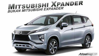 Mitsubishi Xpander, Inilah Nama Resminya! Bukan Expander!