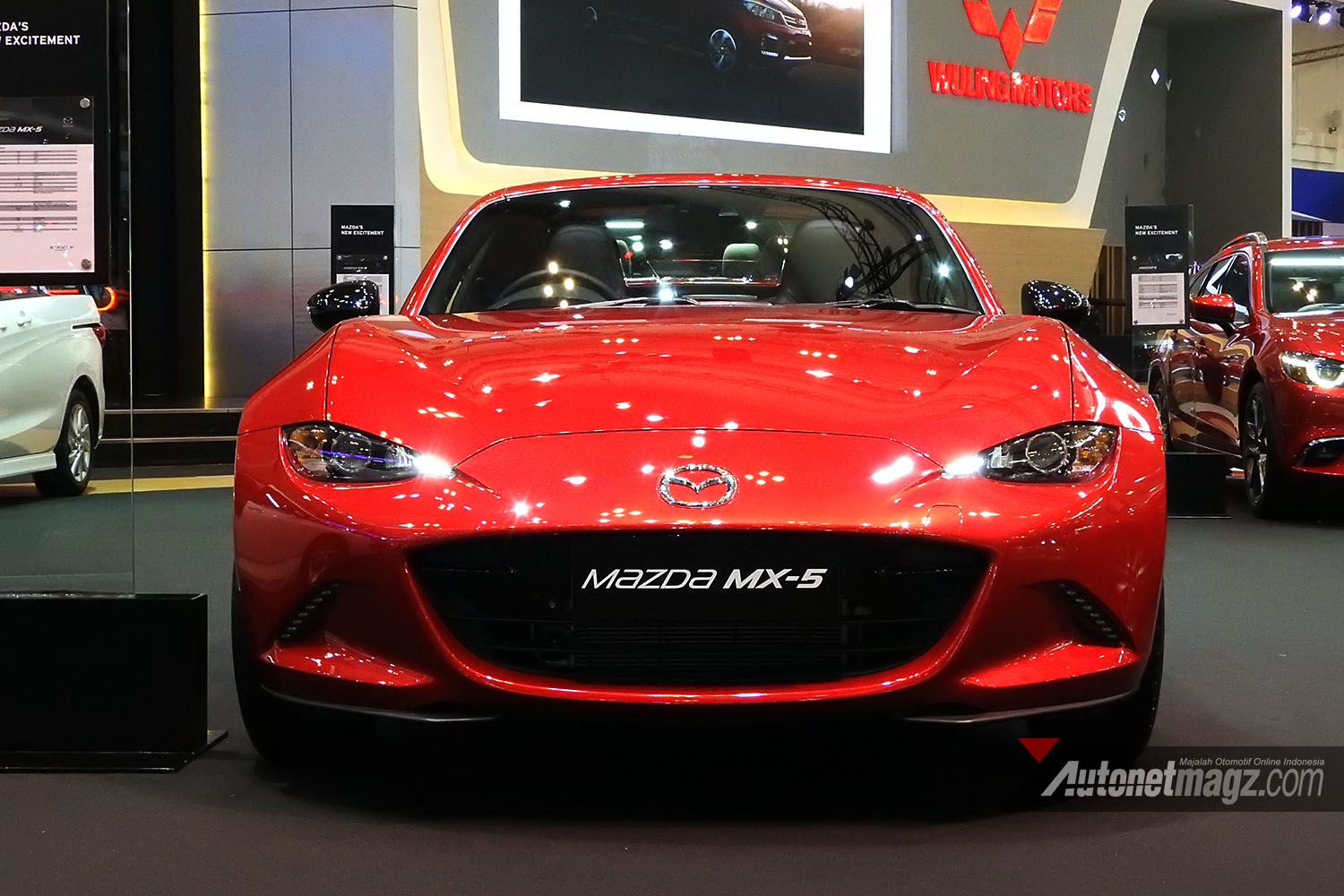 Mazda, mazda mx5 rf miata giias 2017 indonesia front depan: First Impression Review Mazda MX-5 RF 2017 Indonesia