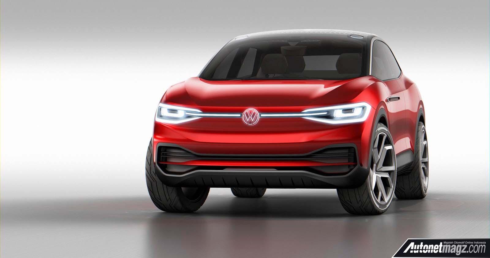 Berita, sisi depan Volkswagen ID Crozz II: Frankfurt Motor Show 2017 : VW ID Crozz II Akan Diproduksi Pada 2020