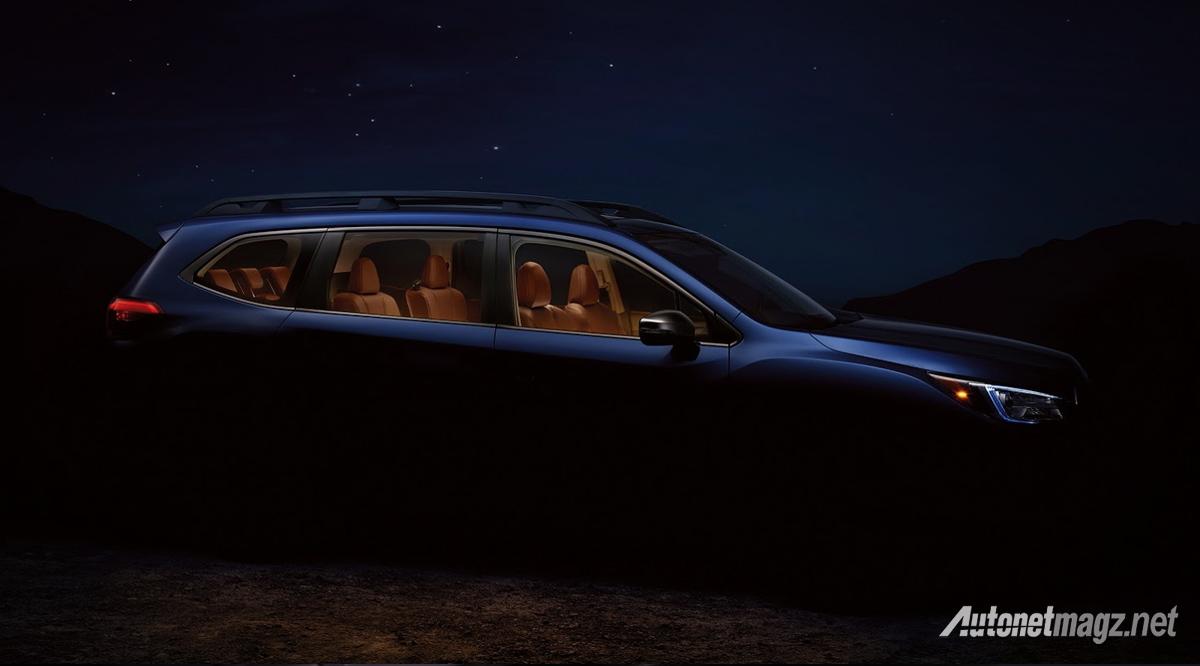 International, teaser subaru ascent 2018: Subaru Ascent, SUV Baru Subbie Dengan Jok 3 Baris