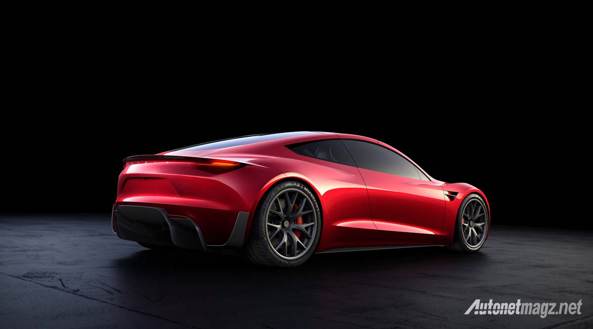 International, tesla roadster 2020 rear: Dahsyatnya Tesla Roadster 2020, 0-100 1,9 Detik Saja!