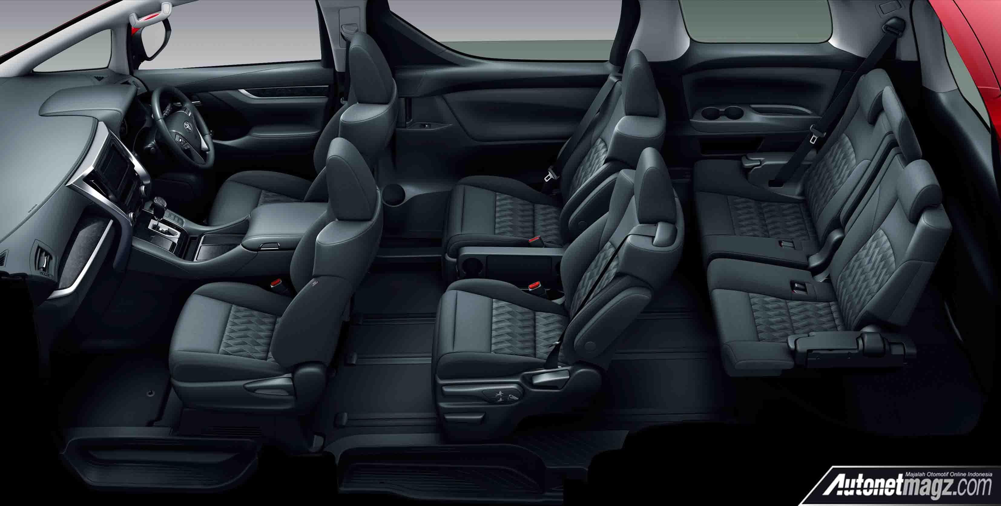 Interior Nappa Black Toyota Alphard Amp Vellfire Facelift 2018