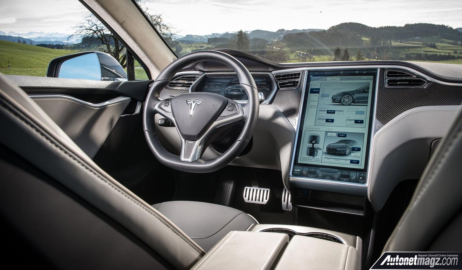 Tesla Model S Interior >> Tesla Model S 2013 Interior Autonetmagz Review Mobil