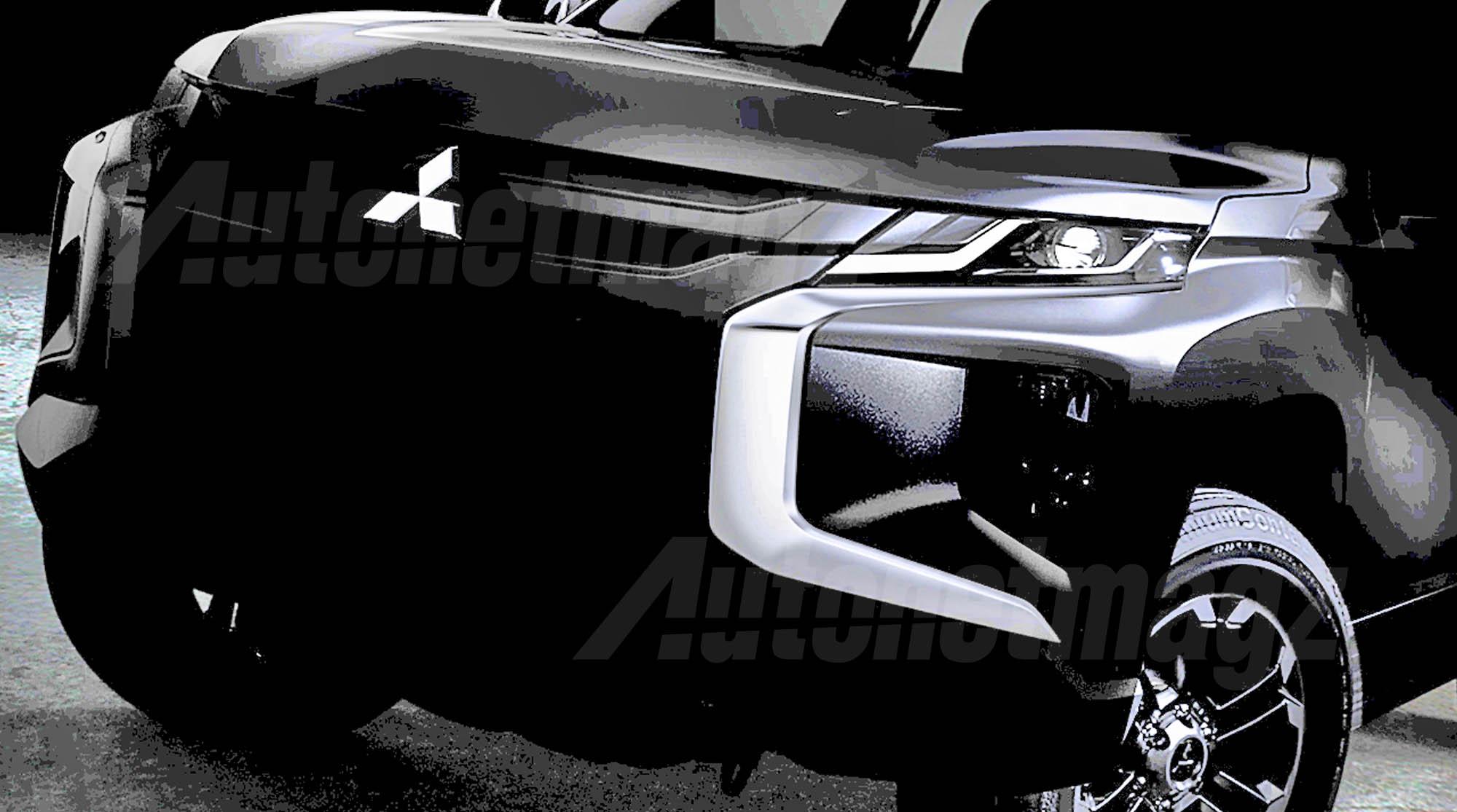 Berita, Teaser Mitsubishi L200 Strada Triton Wajah: Teaser Mitsubishi Triton Facelift Diumbar, Muka Ala Pajero Sport!