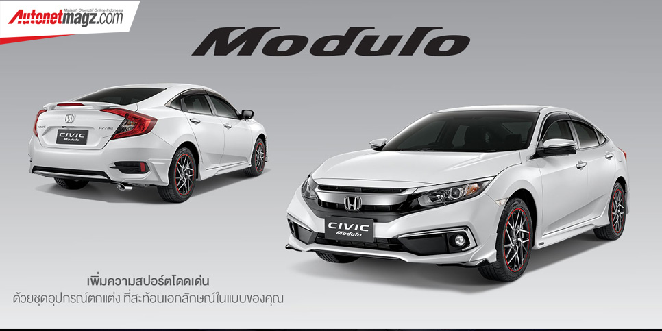 Berita, Honda Civic Turbo Facelift Modulo: Honda Civic Turbo Facelift Rilis di Thailand, Dapat Honda Sensing suite