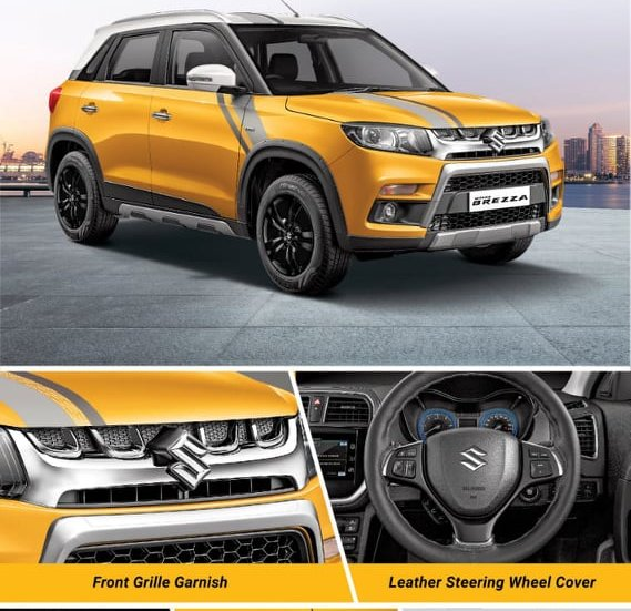 Berita, aksesoris-Suzuki-Vitara-Brezza-Limited-Edition: Suzuki Luncurkan Vitara Brezza Sports Limited Edition di India